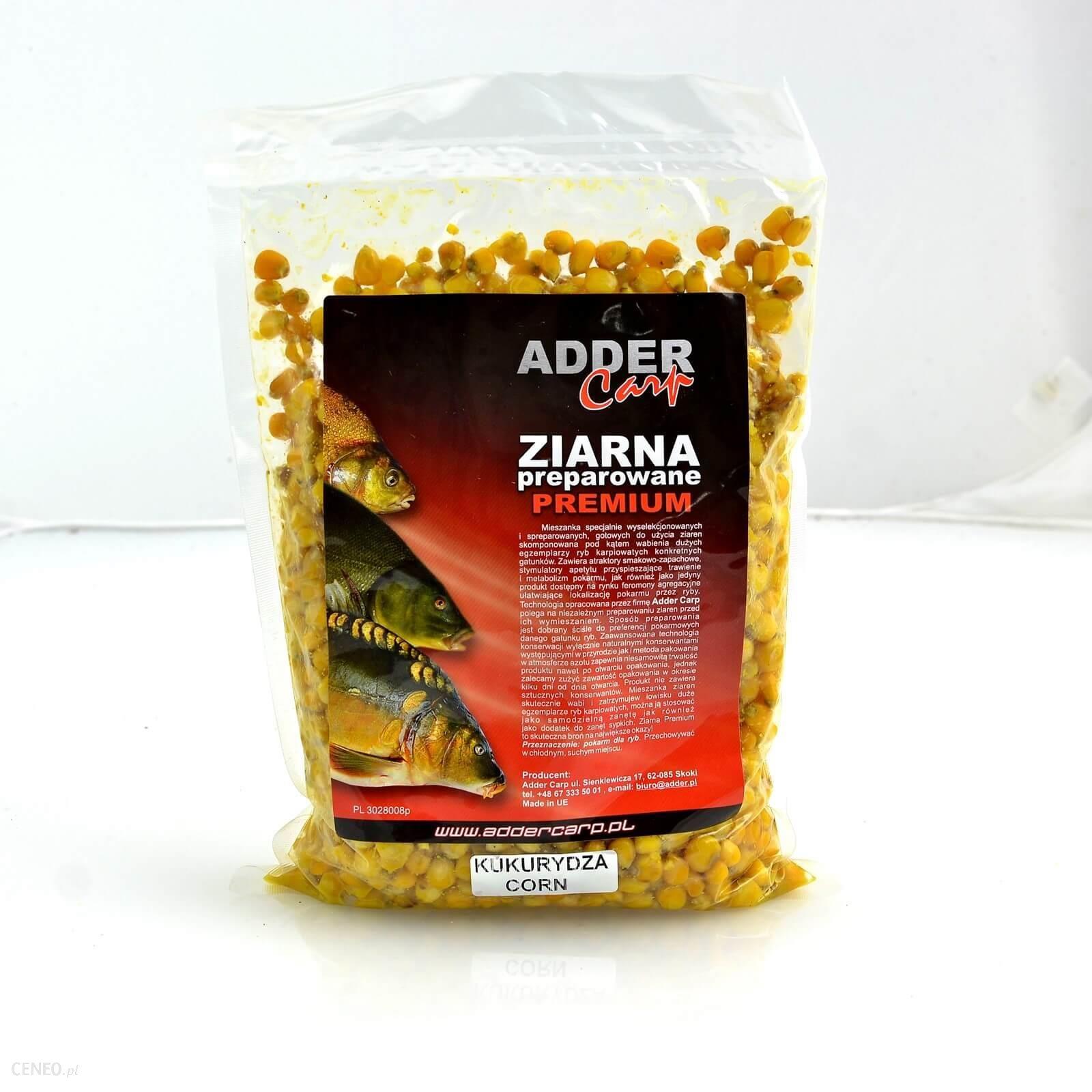 Ac Ziarna Preparowane Premium Kukurydza Natur. 1Kg Adder Carp