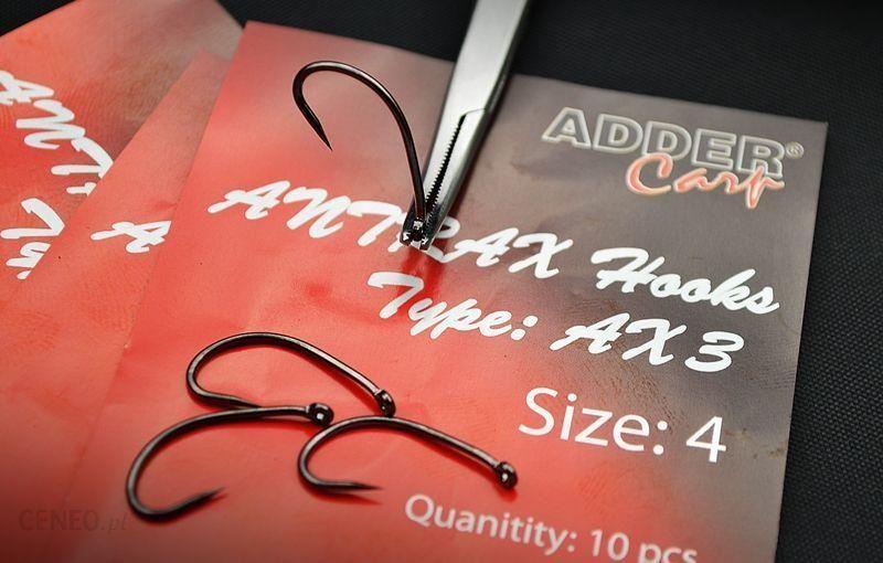 Adder Carp Ac Haczyki Karpiowe Antrax Ax 3 Size 4