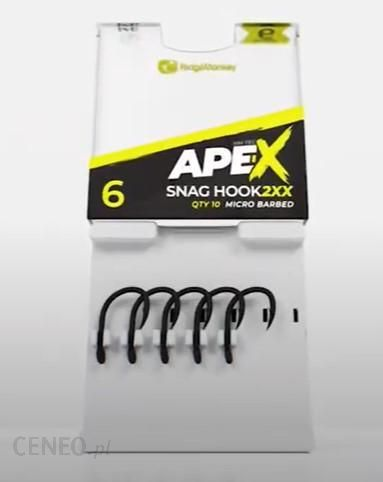 Ape-X Snag Hook 2Xx Barbed Haczyki Ridge Monkey 6