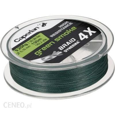 Caperlan Braid 4 X Green Smoke 130 M 18/100 Zielony
