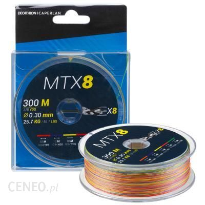 CAPERLAN Plecionka MTX8 MULTICOLORE 300M 0