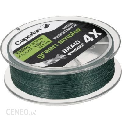 CAPERLAN Plecionka TX4 zielona 130m
