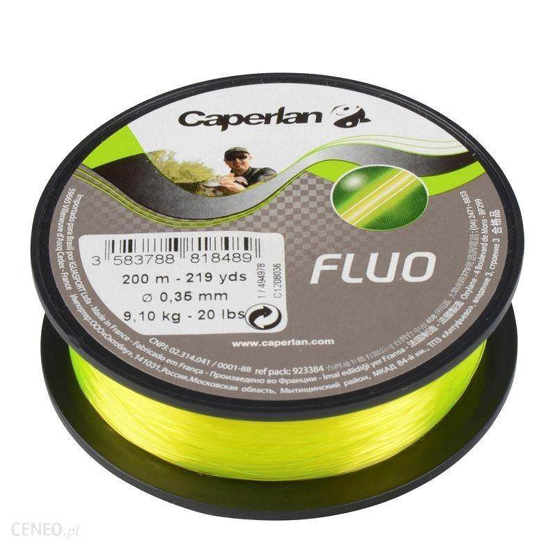 Caperlan Żyłka Fluorescencyjna 200 M Żółty 25/100