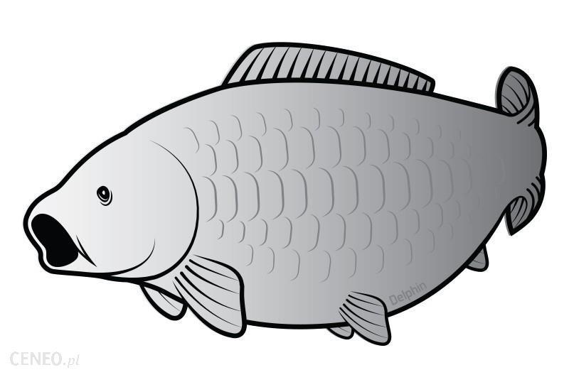 Delphin Naklejka Karp Silver