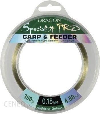 Dragon Fishing Żyłka Pro Carp&Feeder Zielona 0.23Mm 300M 6.55Kg