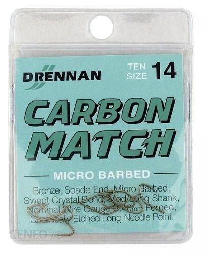 Drennan Haczyki Carbon Match No14 10Szt