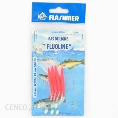 Flashmer Fluoline 4 Haczyki Nr 2/0 Czerwony 2/0