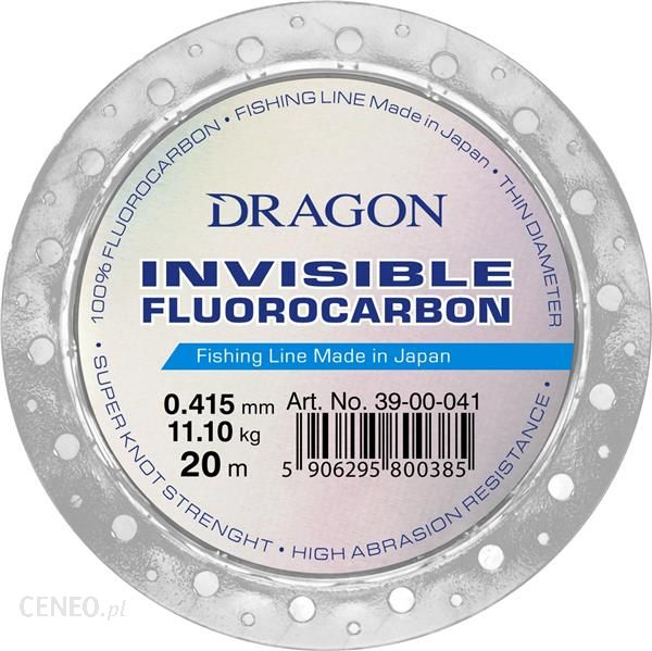 Fluorocarbon DRAGON INVISIBLE 20 m 0.64 mm/20.50 kg clear