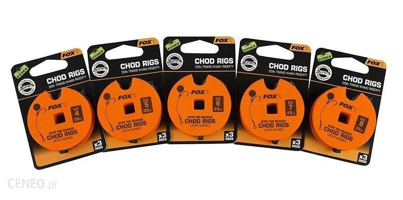 Fox Przypony Armapoint Stiff Chod Rig Standard 30Lb Size 5