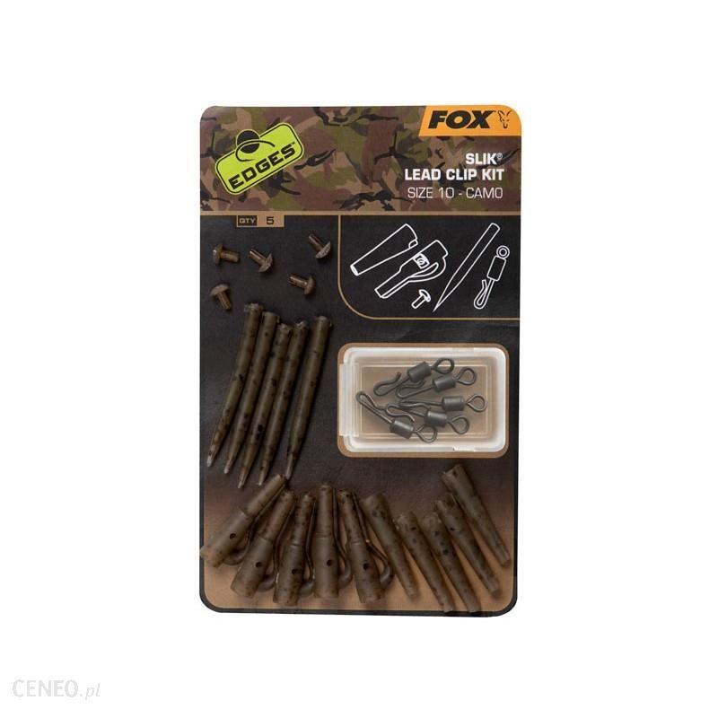 Fox Zestaw Z Bezpiecznym Klipsem Edges Camo Slik Lead Clip Kit 10