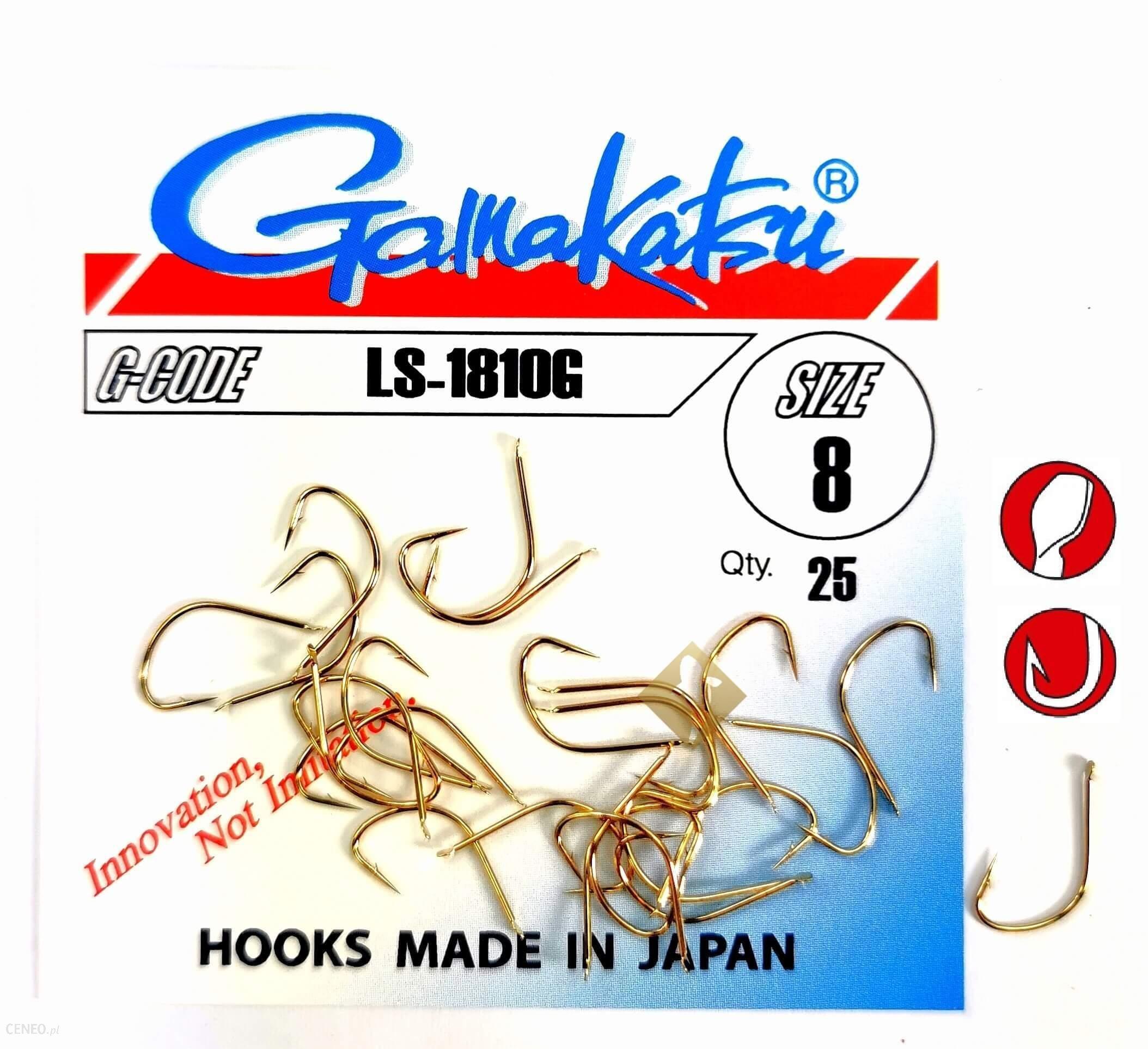 Haczyki Z Łopatką Gamakatsu Ls-1810G Złote Nr 8