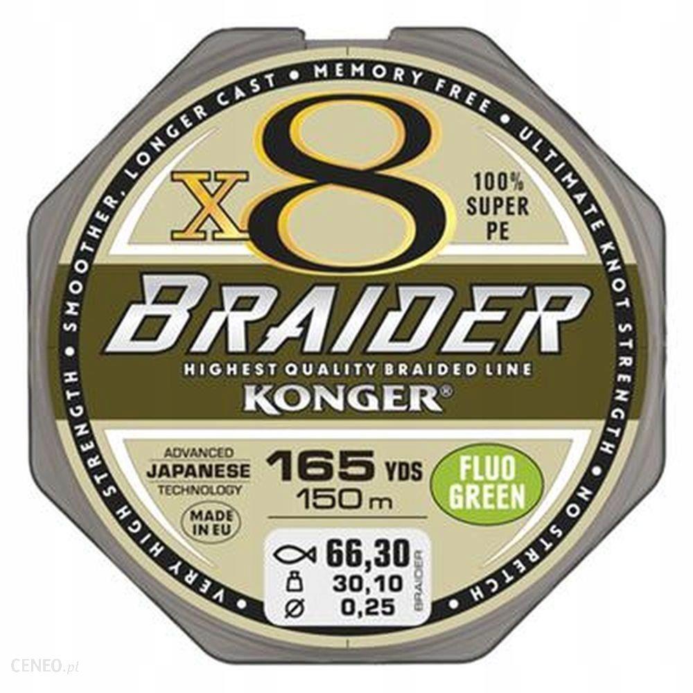 Konger Plecionka Braider X8 0.20mm/150m - Fluo