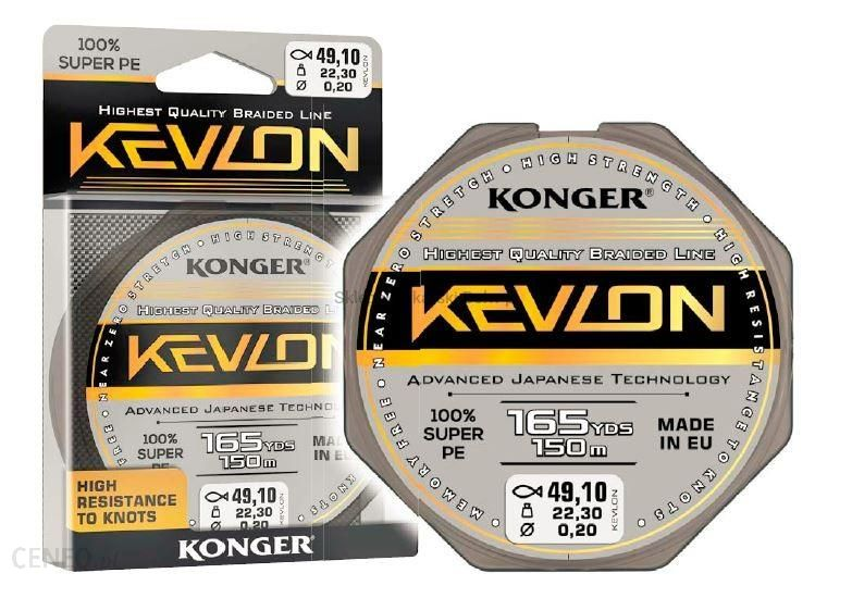 Konger Plecionka Kevlon Black X4 0