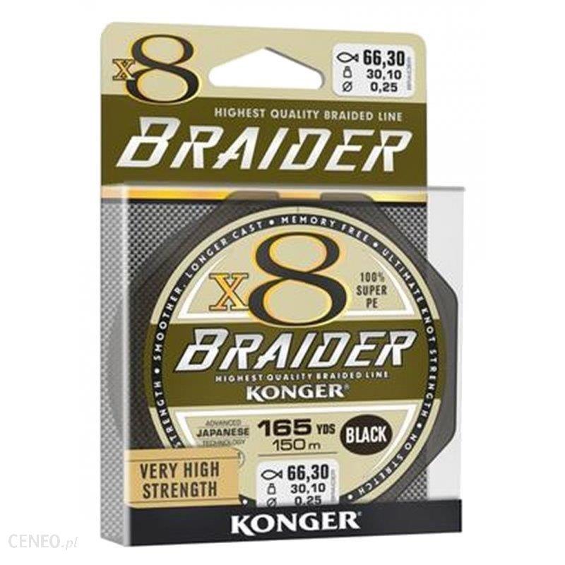Konger Plecionka X8 Braider 0.12Mm 150M Black 250148012 (2017097)