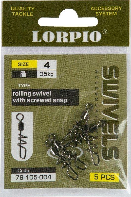 Lorpio Krętlik Z Agrafką Rolling With Screwed No6 5Szt