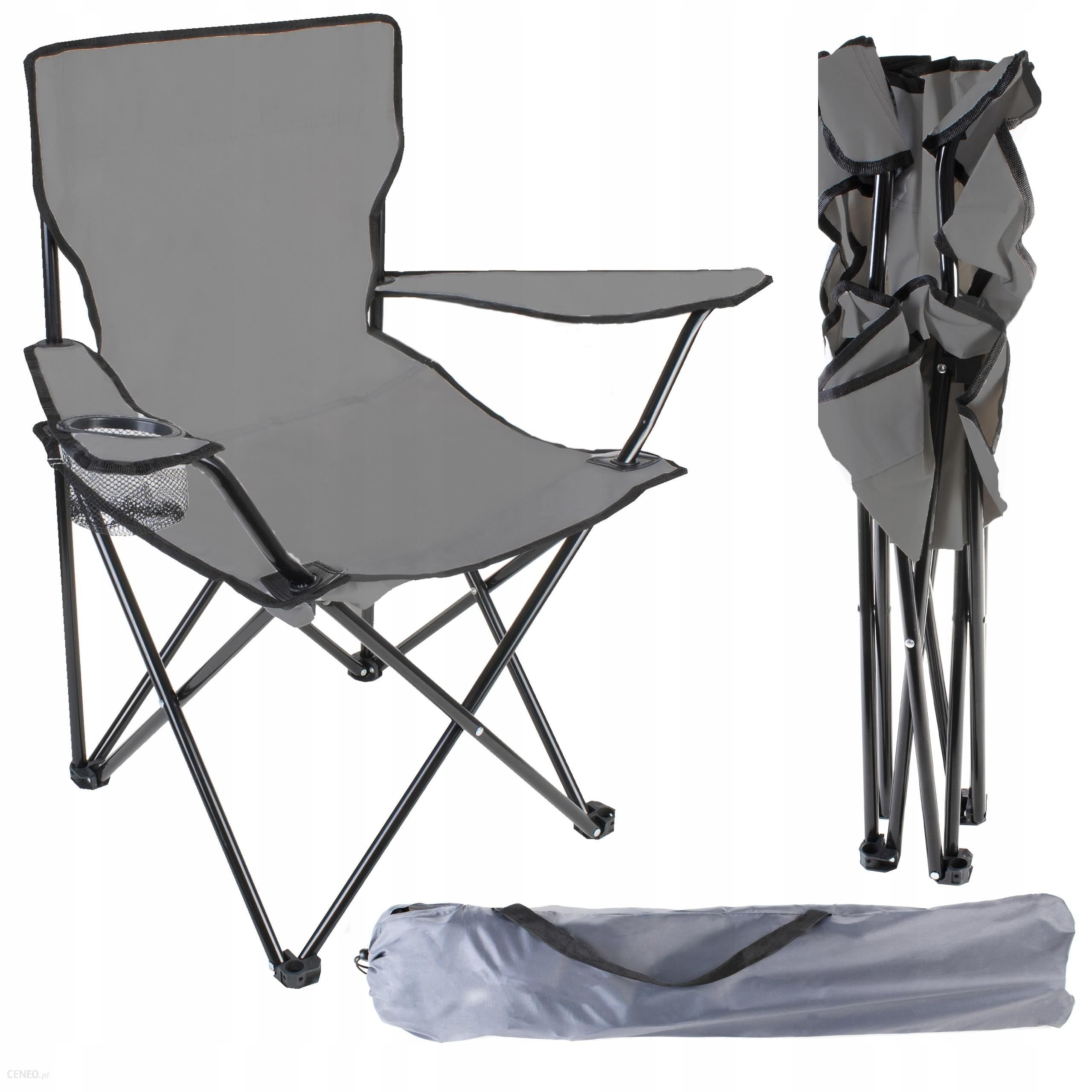 Malatec Składane Krzesło Turystyczne/Wędkarskie Czarne