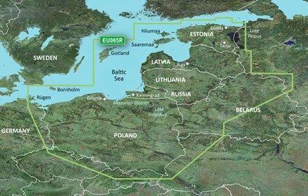 Mapa Garmin BlueChart G3 Mazury Bałtyk Polska