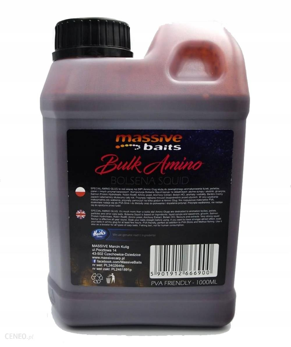 Massive Baits Liquid 1l Bulk Amino Bolsena Squid