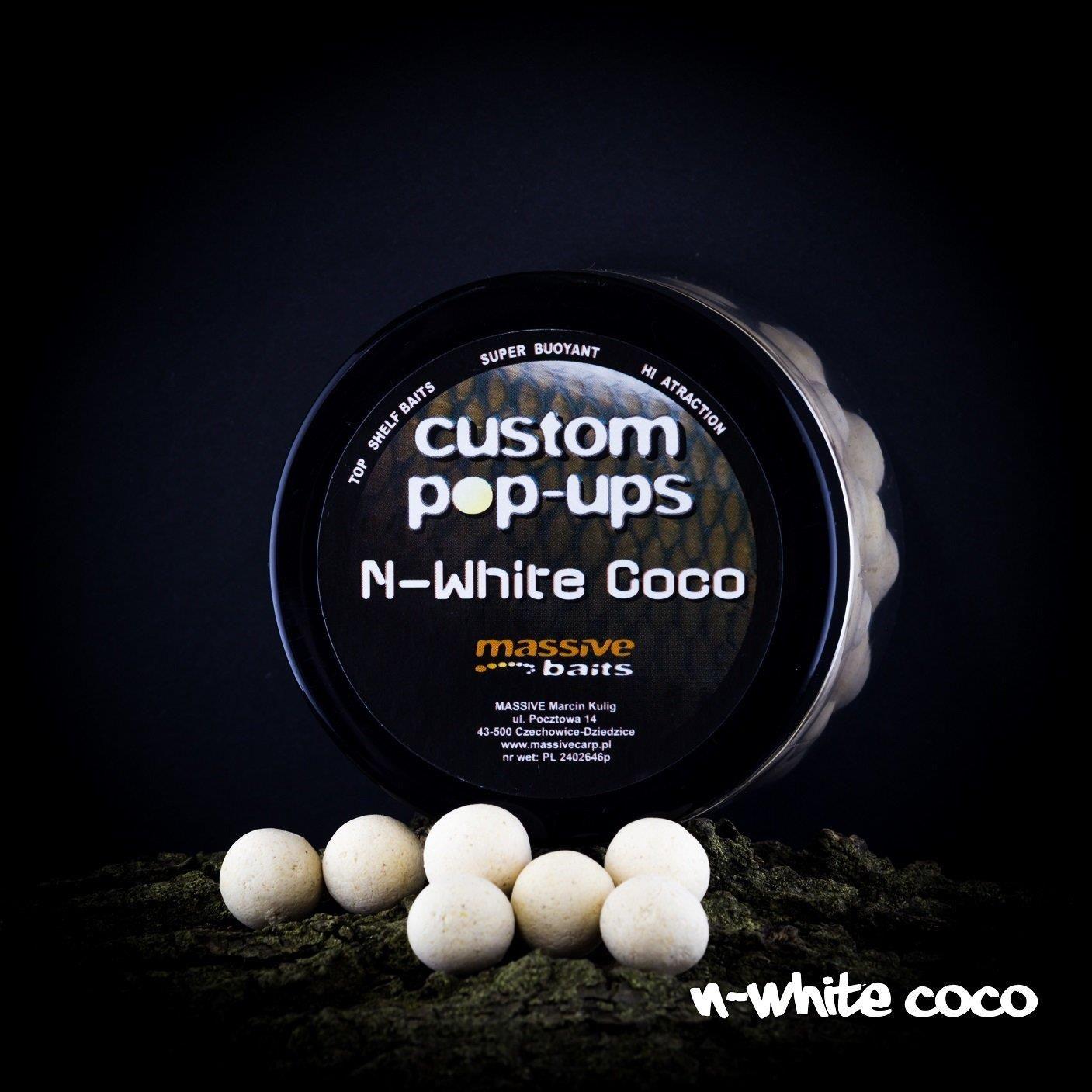 Massive Baits N-White Coco 14Mm Pop Up