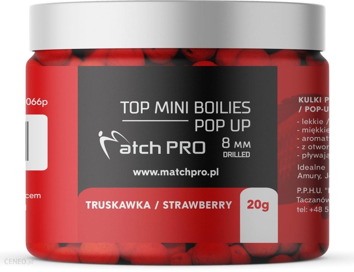 Matchpro Top Boilies Kulki Pop Up Strawberry 8/20G