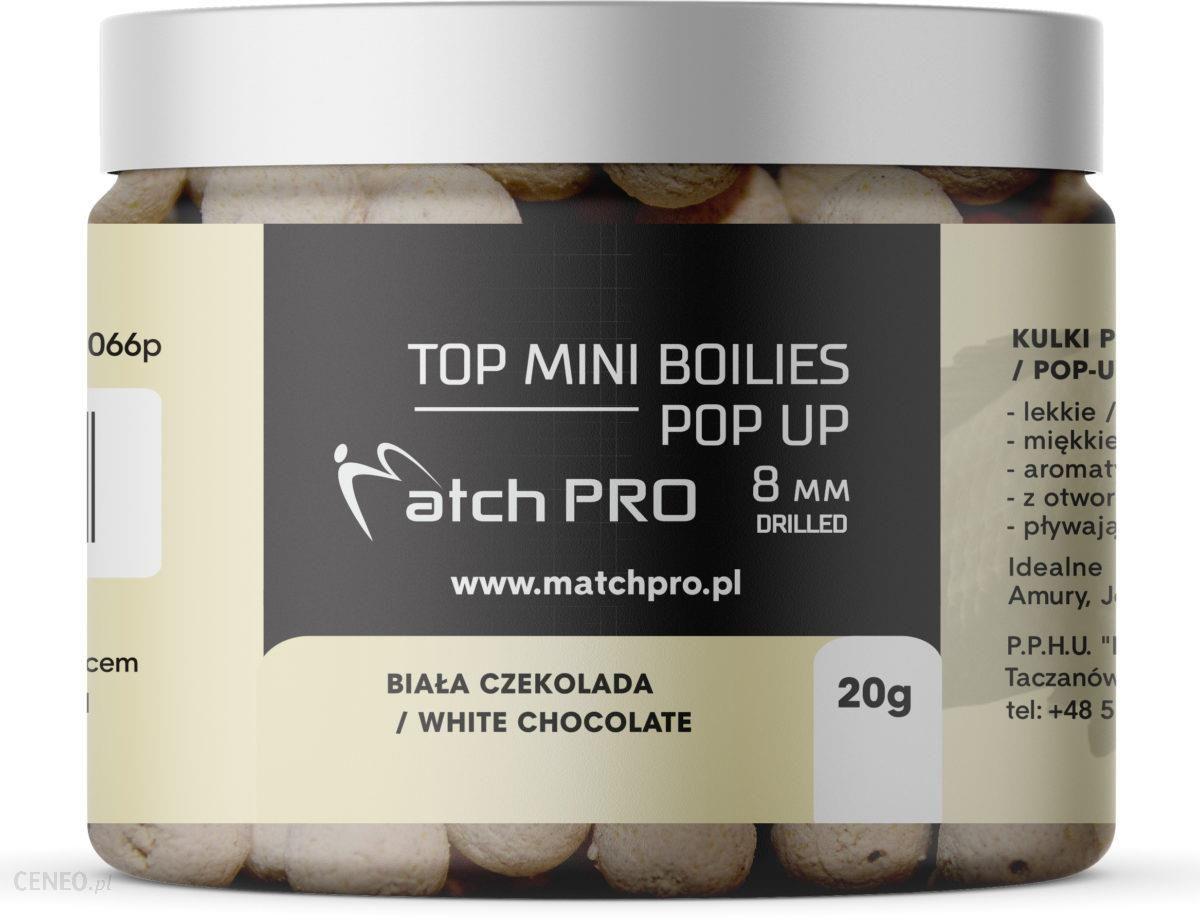 Matchpro Top Boilies Kulki Pop Up White Chocolate 8Mm 20G
