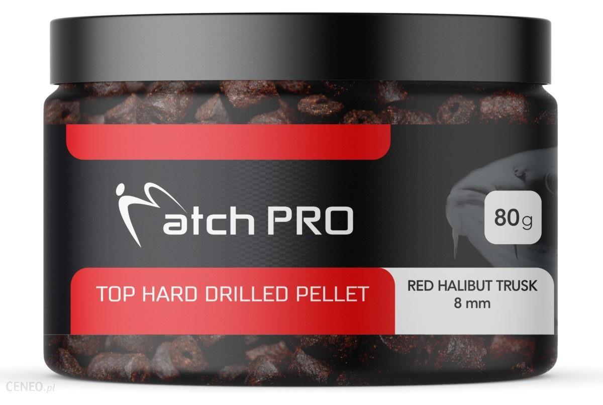 Matchpro Top Hard Red Halibut + Truskawka 12Mm Drilled Pellet 80G