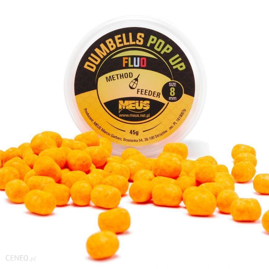 Meus Dumbells Fluo Pop Up 8Mm Czekolada & Pomarańcza Minis