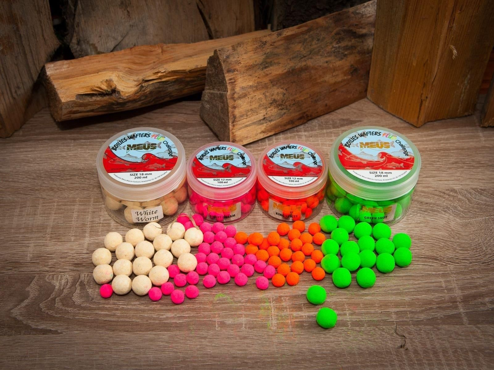 Meus Kulki Fluo Wafters White Worm 18Mm