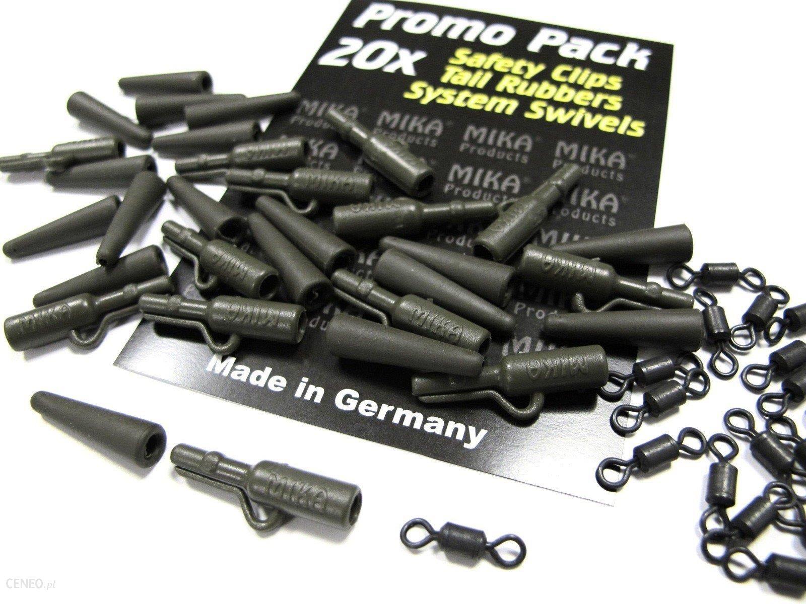 Mika Products Bezpieczny Klips + Gumki Zabezpieczające + Krętliki 60Szt