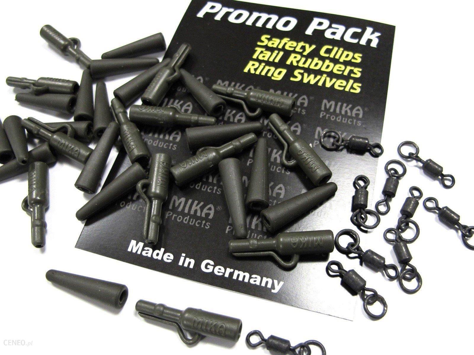 Mika Products Bezpieczny Klips + Gumki Zabezpieczające + Krętliki Z Pierścieniem 60Szt