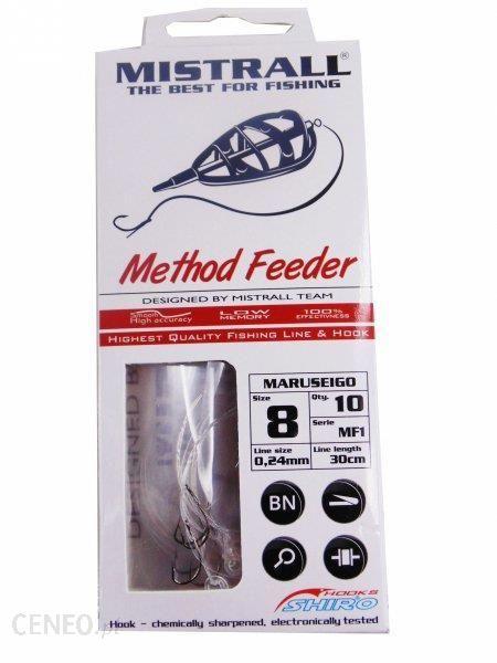mistrall Haczyki na przyponie do method feeder z gumką 6 am6000041