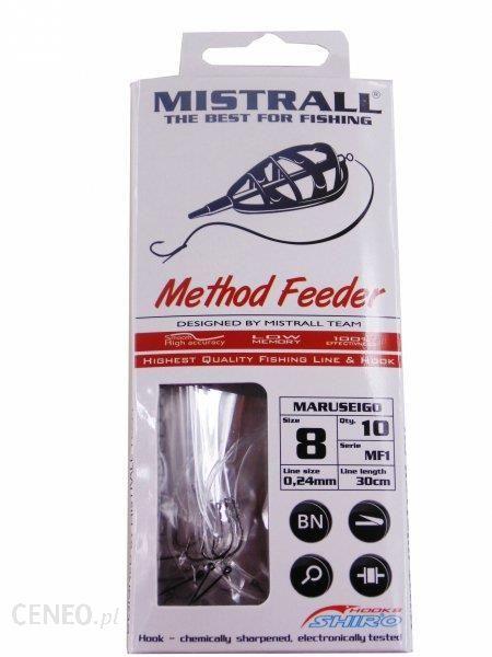 mistrall Haczyki na przyponie do method feeder z igłą 12 am6000004