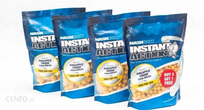 Nash Instant Action Pineapple Crush Boilies 18 1kg