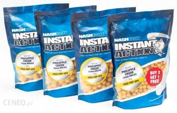 Nash Instant Action Pineapple Crush Boilies 20mm