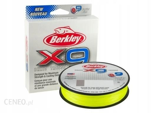 Plecionka Berkley X9 Braid Fluo Green 0.14mm 150m