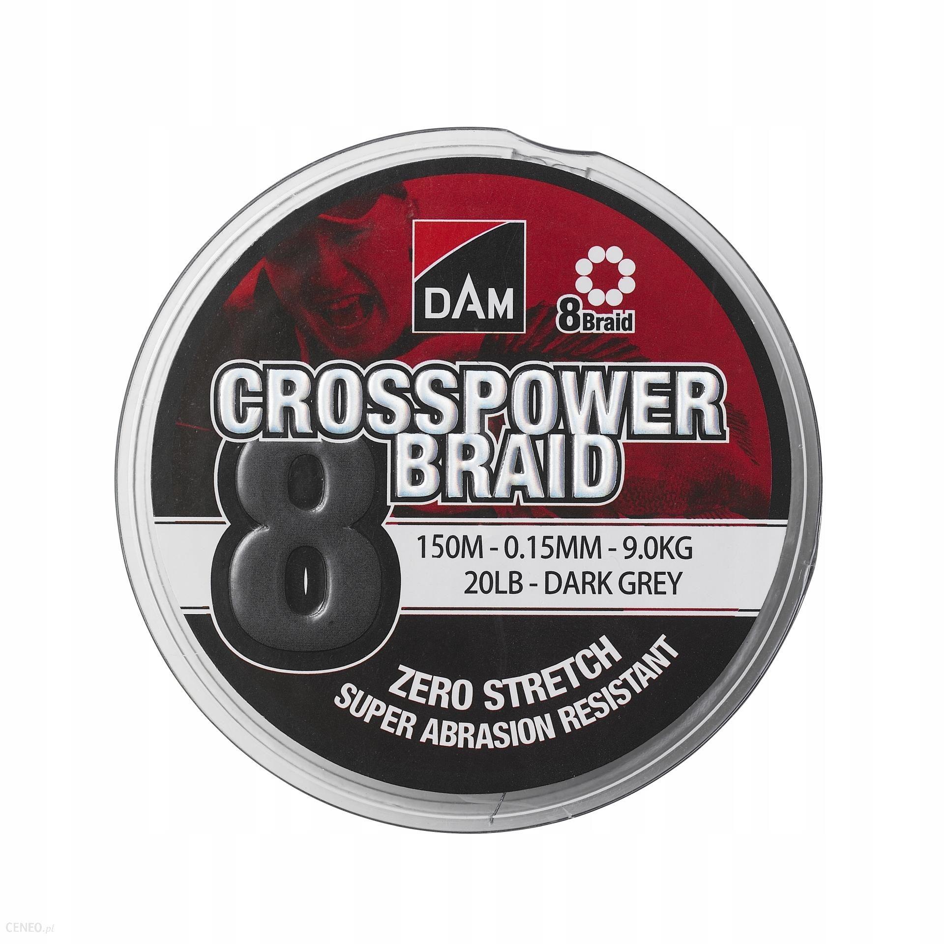 Plecionka Dam Crospower 8-Braid 150M Grey 0