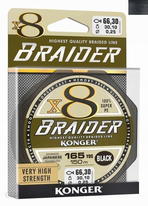 Plecionka Konger Braider X8 Czarna 0
