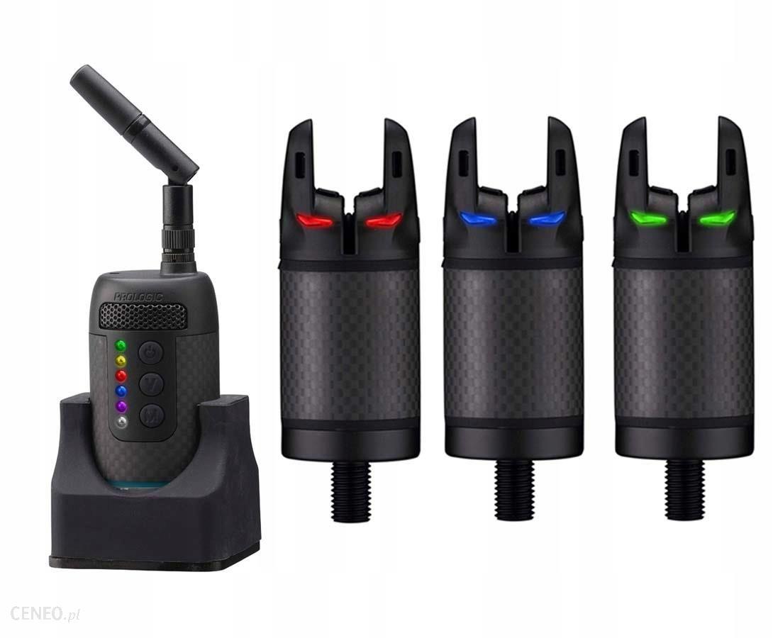 Prologic Sygnalizator wędkarski K3 Bite Alarm Set 3+1 zielony/żółty/czerwony (62040)