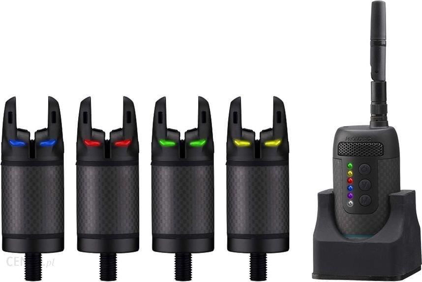 Prologic Sygnalizator wędkarski K3 Bite Alarm Set 4+1 zielony/żółty/czerwony/niebieski (62041)