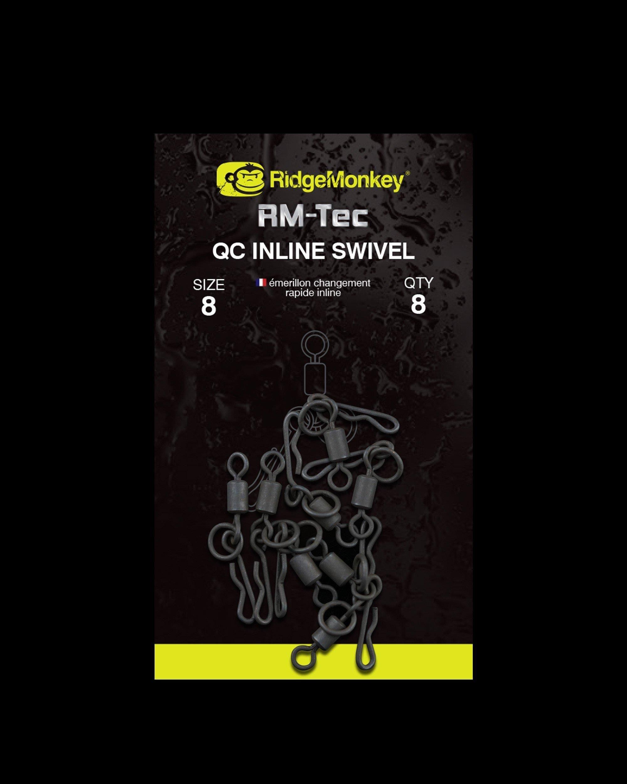 Ridge Monkey Ridge Monkey Rm-Tec Quick Change Inline Swivel Size 8