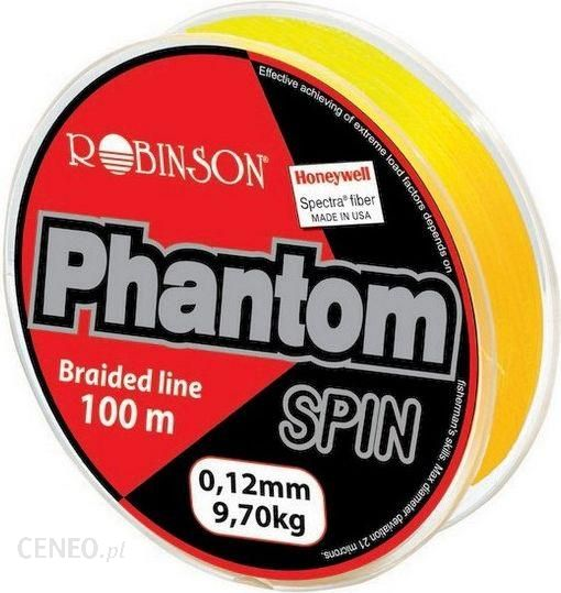 Robinson Plecionka Phantom Spin 0.18mm 100m żółta (56fl018)