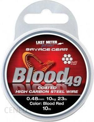 Savage Gear Blood49 0.48Mm 11Kg 24Lbcoated Red 10M (54898)