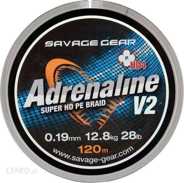 Savage Gear Hd4 Adrenaline V2 120M 0.26Mm 37.5Lbs 17.1Kg Grey (54832)