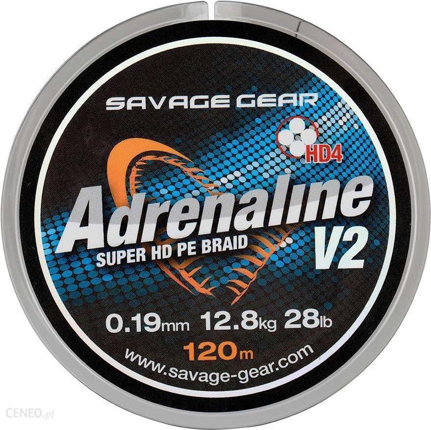 Savage Gear Plecionka Hd4 Adrenaline V2 Szara 120M 0.13Mm 17Lbs 7.8Kg (54828)