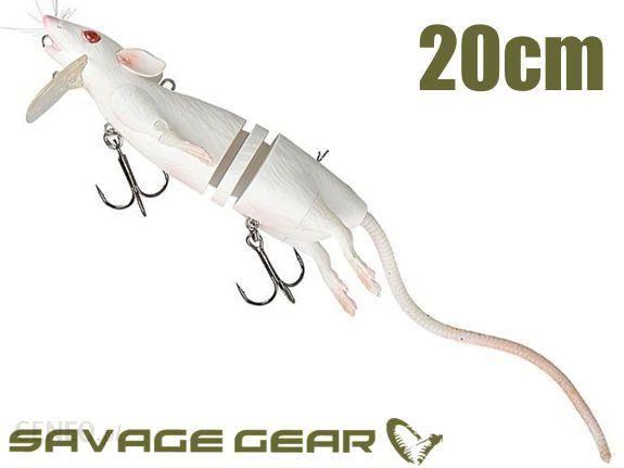 Savage Imitacja Szczur - Gear 3D Rad 20cm Biały