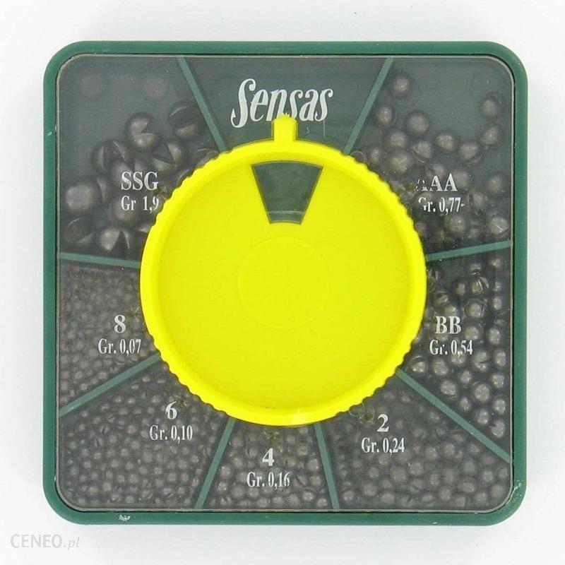 Sensas Pudełko Ciężarków Gb Zielony
