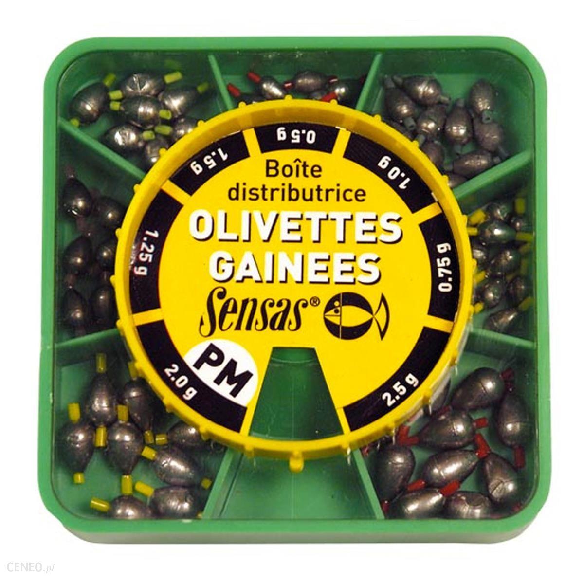 Sensas Pudełko Ciężarków Oliwkowych Małych Zielony