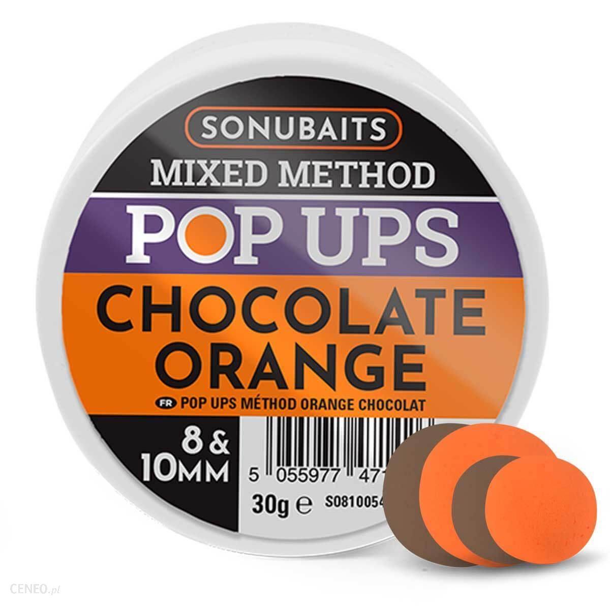 Sonubaits Mixed Method Pop Ups Chocolate Orange 8/10Mm