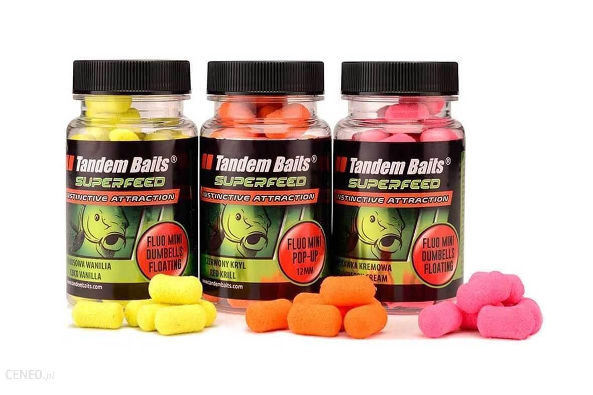 Tandem Baits Superfeed Fluo Mini Dumbells Floating 12Mm Czerwony Kryl