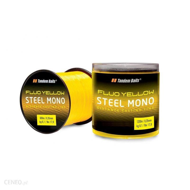 Tandem Baits Żyłka Steel Mono Fluo Żółta 1200 M / 0